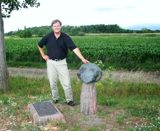 Russ Finney at the Ensisheim Fall Site